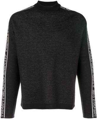 MSGM side-logo long sleeve sweater