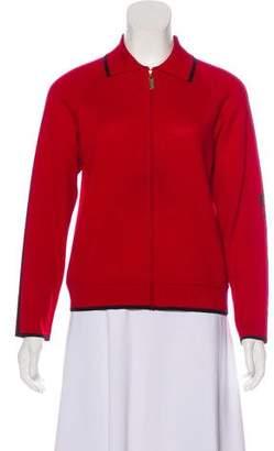St. John Sport Tonal Knit Cardigan