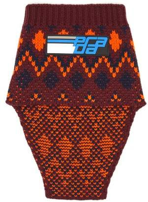 Prada - Fair Isle Wool Blend Snood - Mens - Orange