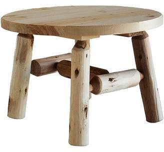 "Lakeland Mills Cedar Log 27"" Round Coffee Table"