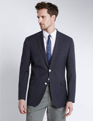 Marks and Spencer Performance Wool Blend 2 Button Blazer with Odegon