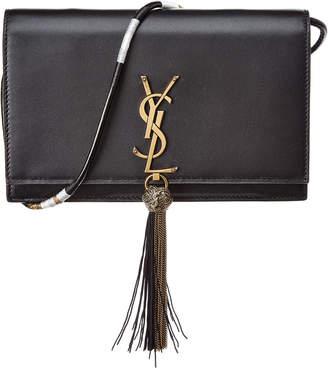 Saint Laurent Kate Chain Leather Clutch