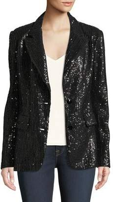 6bca8234d12 Berek Plus Size Two-Button Notch-Lapel Sequined Blazer