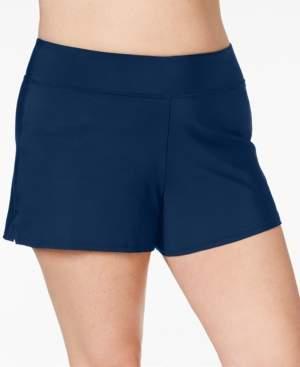 Swim Solutions Plus Size Swim Shorts, Created for Macy's Women's Swimsuit