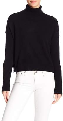 Minnie Rose Cropped Turtleneck Cashmere Sweater