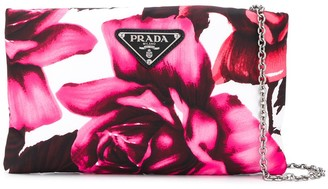 Prada floral chain clutch