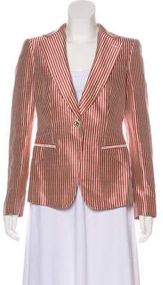 Giorgio Armani Striped Notch-Lapel Blazer