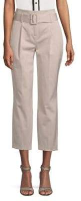 Dorothy Perkins Belted Sateen Cropped Pants