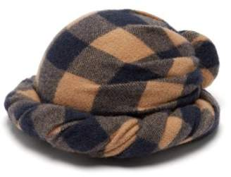 Gucci Checked Wool Turban - Womens - Brown