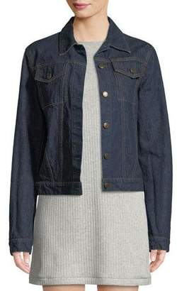 Helmut Lang Re-Edition Archive Stripe Button-Front Denim Jacket