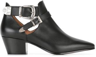 Twin-Set buckled ankle boots $318.34 thestylecure.com