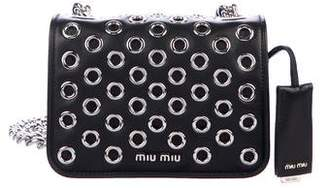Miu Miu Leather Grommet Crossbody Bag