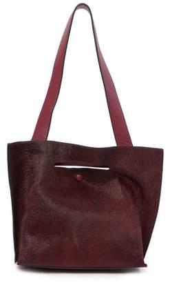 Sondra Roberts FUR Medium Leather Tote Bag