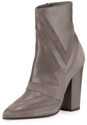 Laurence Dacade Isola Geometric Patchwork Boot, Gray $1,175 thestylecure.com
