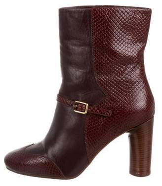 Marc by Marc Jacobs Embossed Leather Ankle Boots