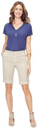 NYDJ Missy Roll-Cuff Bermuda Shorts