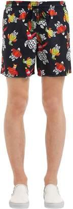 Vilebrequin Moorea Turtle Sweater Print Swim Shorts