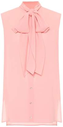 Alexander McQueen Sleeveless silk blouse
