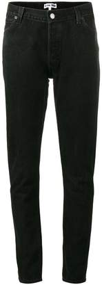RE/DONE Levi's black mid rise skinny jeans