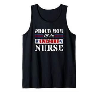 Woman Proud Mom Of A Nurse Shirt RN LPN Favorite Nurse Tank Top