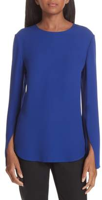 Theory Bringam Slit Sleeve Georgette Top