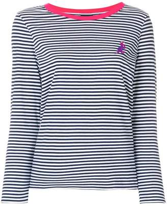 Paul Smith striped dinosaur logo jersey top