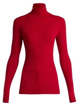 Dolce & Gabbana Ribbed Roll Neck Sweater - Womens - Burgundy