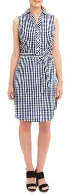 Foxcroft Gingham Shirt Dress $98 thestylecure.com