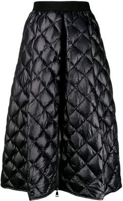 Moncler A-line quilted skirt
