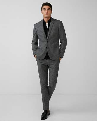 Express Extra Slim Gray Donegal Wool-Blend Suit Jacket