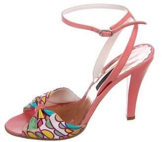 Marc Jacobs Satin Ankle Strap Sandals
