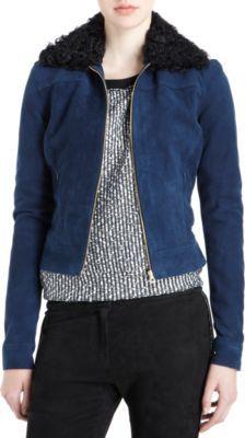 L'Agence Shearling Collar Jacket