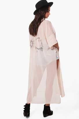 boohoo Sun & Moon Mesh Kimono