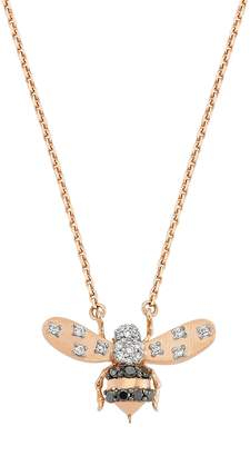 Bee Goddess Rose Gold and Diamond Queen Bee Necklace