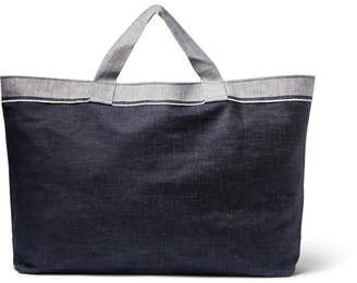 Cleverly Laundry Two-Tone Denim Laundry Bag