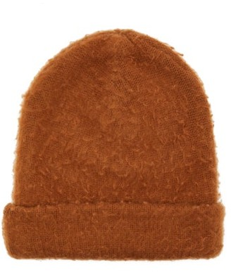Acne Studios Peele Wool Blend Beanie Hat - Womens - Brown