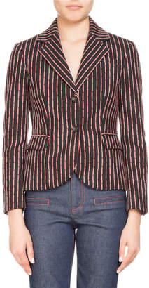 Altuzarra Trinity Pinstriped Two-Button Jacket