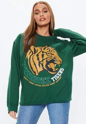 Missguided Green Tennessee Tigers Graphic Sweatshirt