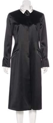 Giorgio Armani Long Structured Satin Coat