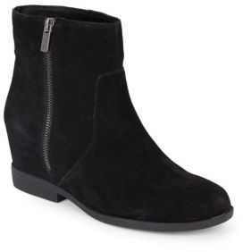 Suede Flat Ankle Boots $109 thestylecure.com