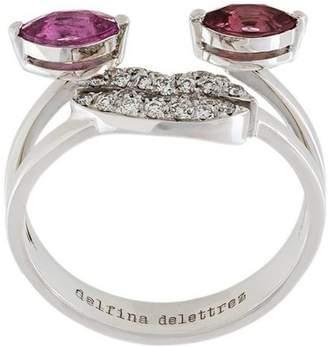 Delfina Delettrez face embellished ring
