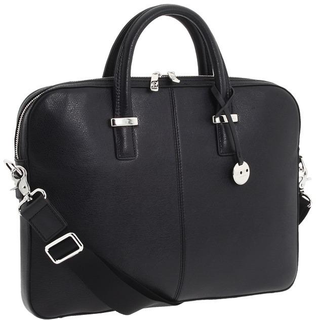 Knomo Berkeley - Larissa Slim Brief (Black Embossed) - Bags and Luggage