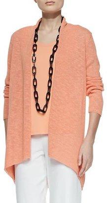 Eileen Fisher Melange Linen-Blend Cardigan, Papaya $258 thestylecure.com