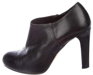 LK Bennett Leather Round-Toe Ankle Boots