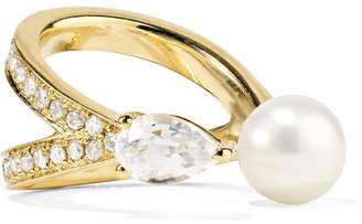 Anissa Kermiche - Perle Rare 14-karat Gold Multi-stone Ear Cuff