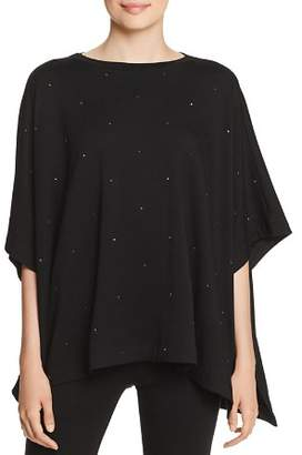 Capote Embellished Poncho Top