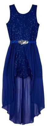 Amy Byer Sequin Lace Walk-thru Romper Dress (Big Girls Plus)