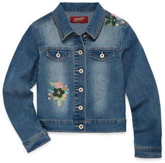 Arizona Floral Embroidered Denim Jacket - Girls 4-16 & Plus