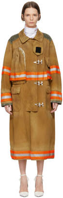 Calvin Klein Brown Fireman Coat