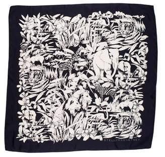 Stella McCartney Floral Print Silk Scarf